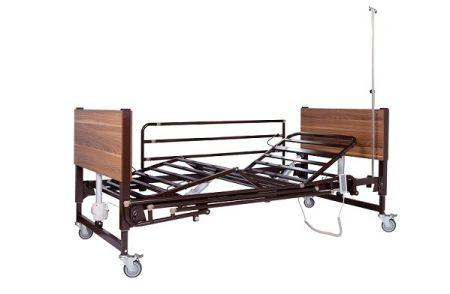 Mobiak 5 funkciós elektromos ápolási ágy - barna