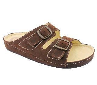 0b2275e4b1 Salus férfi kényelmi papucs 2 csatos barna