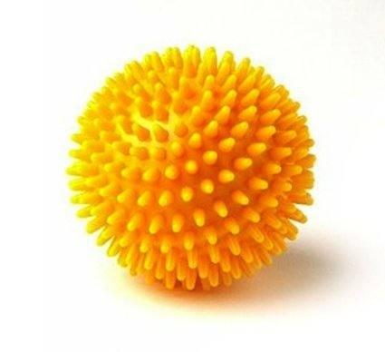 Tüskés labda  8 cm átmérőjű  citromsárga