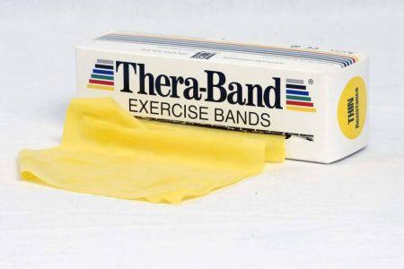 Thera-Band 5,5 m sárga gyenge erősítő gumiszalag