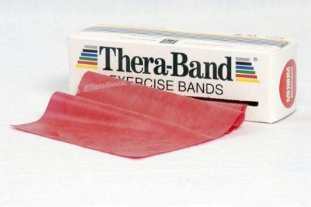 Thera-Band 5,5 m piros közepes erősítő gumiszalag
