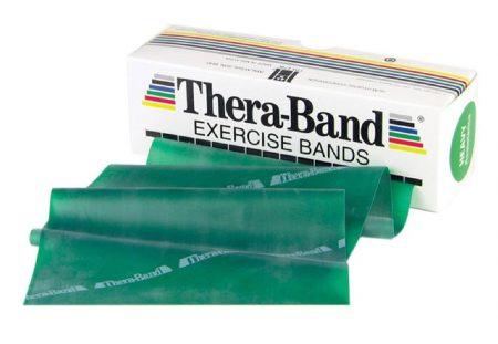 Thera-Band 5,5 m zöld erős erősítő gumiszalag