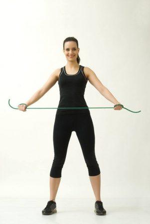 Thera-Band 140 cm zöld erős erősítő gumikötél