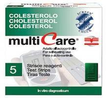 Multicare koleszterin tesztcsík 5 db