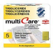 Multicare triglicerid tesztcsík 5 db