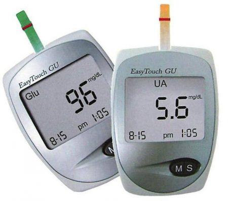 Vércukor- és húgysav mérő szet Easy Touch Wellmed ET- GU