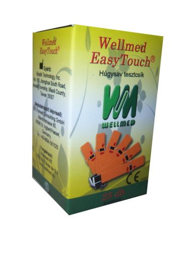 Tesztcsík Wellmed Easy Touch Uric Acid 25 db 2b875078b4