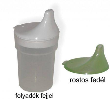 Betegitató pohár víz és rostos folyadékra