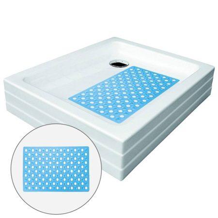 Csúszásgátló szőnyeg fürdőkádba kék lyukacsos 75 x 38 cm