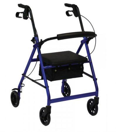 Összecsukható alumínium rollátor levehető táskával, üléssel - Herdegen