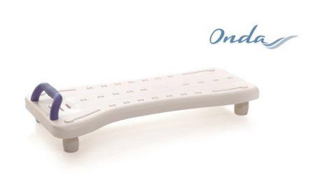 Állítható hosszúságú fürdőkád pad kapaszkodóval Onda