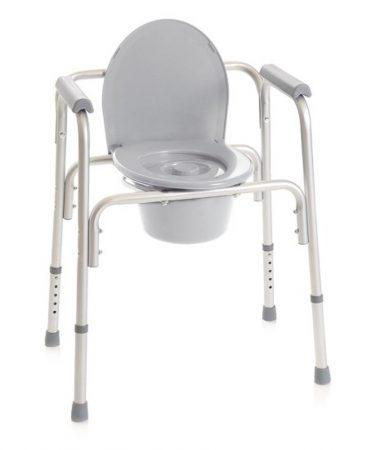 Állítható magasságú szoba wc és fürdető szék 4 az egyben