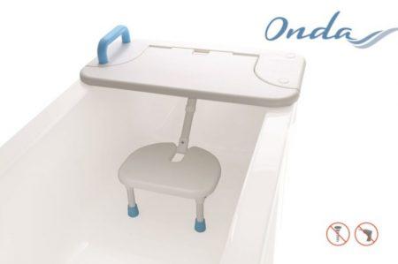 Felhajtható fürdőkádpad zuhanyszékkel Onda