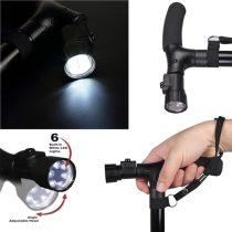 Magic cane összecsukható állítható járóbot LED lámpával