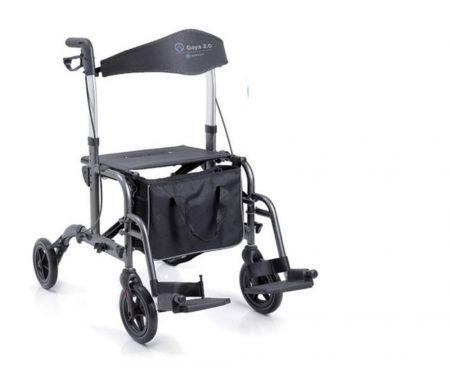 Gaya  2.0 két funkciós összecsukható aluminium rollátor/kerekesszék egyben