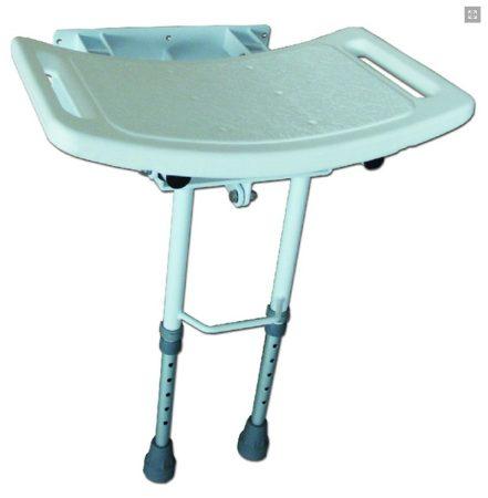 Falra szerelhető felhajtható zuhanyülés állítható lábakkal