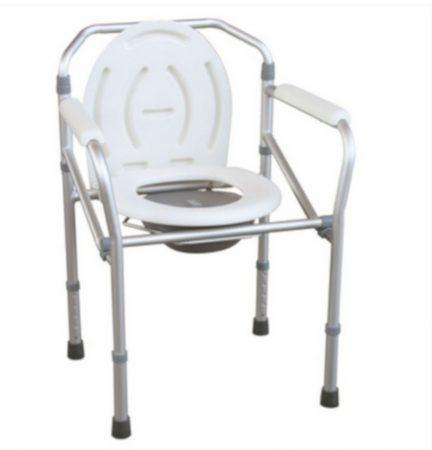 Állítható magasságú összecsukható aluminium szoba wc -fürdető szék egyben JL894L