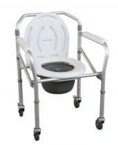 Gördíthető állítható magasságú összecsukható aluminium szoba wc -fürdető szék egyben JL696L