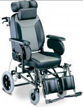 """Komfort kerekesszék párnázott üléssel dönthető háttámasszal 16"""" kerékkel"""
