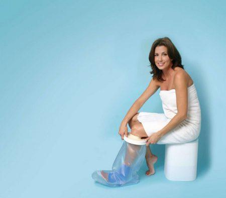 Vízálló lábvédő zuhanyzáshoz felnőtt méret 58 cm