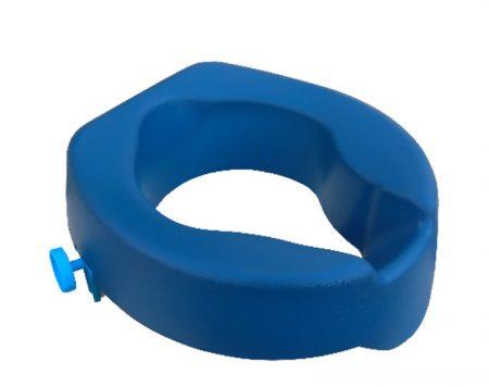 WC magasító 10 cm, kék Pu hab, puha csavaros rögzítés Mobiak