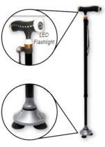 MAGIC Cane plus Állítható járóbot csuklós rögzítésű 3 ágú talppal, LED világítással