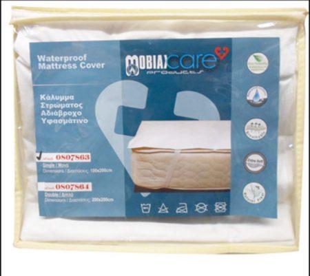Vízálló matracvédő lepedő rögzítő fülekkel 100 x 200 cm MOBIAK