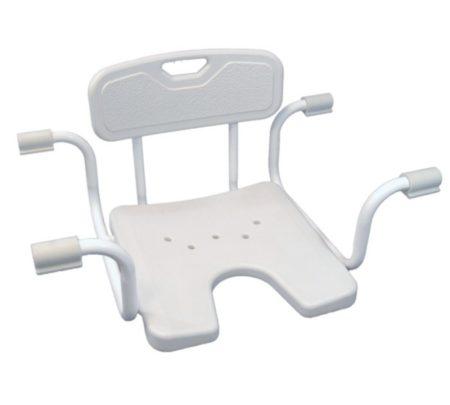 Állítható fürdőkád beülőke háttámlával higiénia nyílással