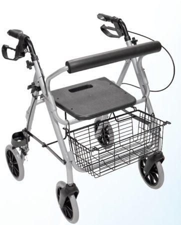 Mobiak ultra könnyű összecsukható rollátor Silver