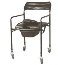 Gördíthető állítható magasságú szoba WC párnázott ülőfelülettel