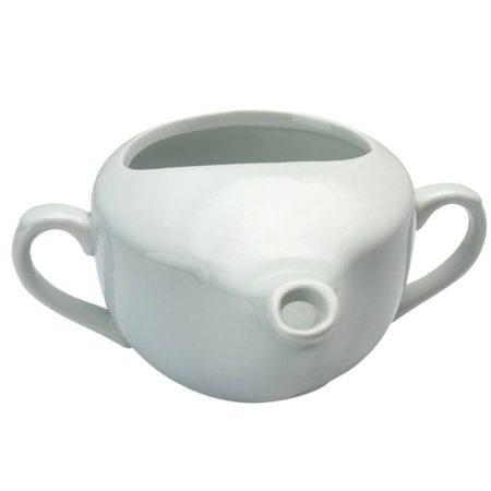 Csőrös kerámia betegitató pohár