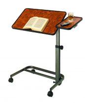 Állítható magasságú gördíthető dönthető ágyasztal oldalsó kiegészítővel