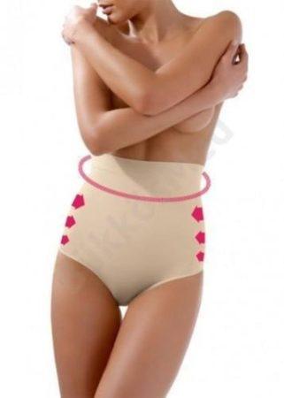 Alakformáló női alsó magas derékkal testszín