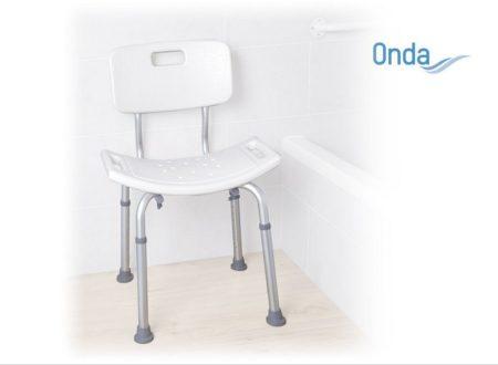 Háttámlás zuhanyszék állítható magasságú  Onda