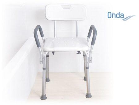 Kartámaszos zuhanyszék háttámlával állítható magasságú Onda