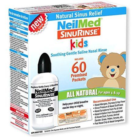 Neil-Med orr irrigátor szett gyermek 120 ml-es palack + 60 db só