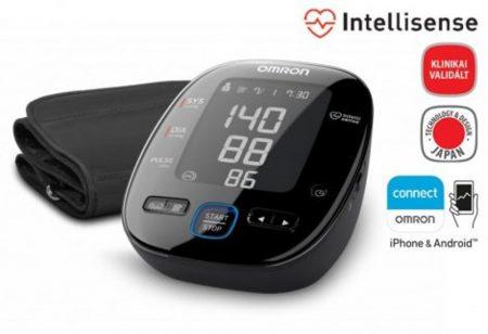 """OMRON MIT5s connect Intellisense felkaros továbbfejlesztett, új vonalú """"Black Line"""" """"okos-vérnyomásmérő"""""""