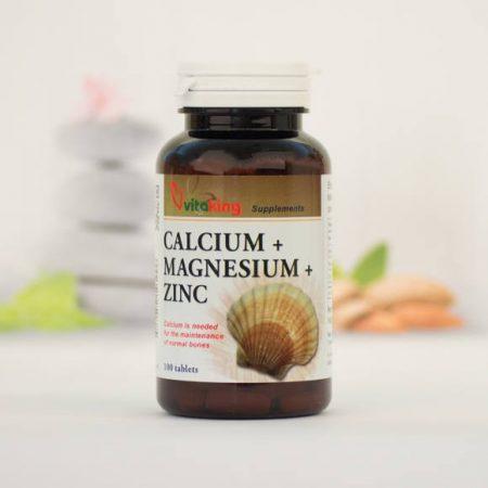 Vitaking Kálcium+Magnézium+Cink 100 darabos ásványi vitamin