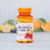 Vitaking C-vitamin Acerola 500MG 40 darabos rágótabletta