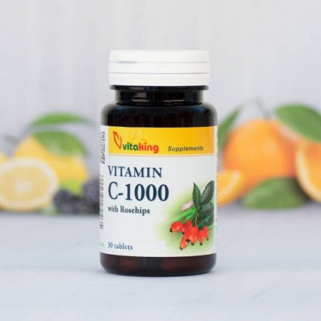 Vitaking C-vitamin 1000MG 100 darabos tabletta csipkebogyóval