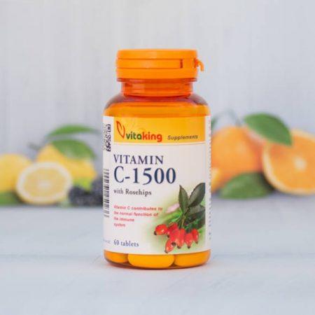 Vitaking C-vitamin 1500MG 60 darabos tabletta